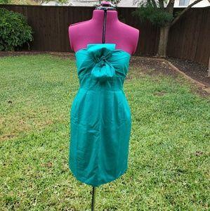 "JCrew ""Bow Monde"" strapless dress (factory)"